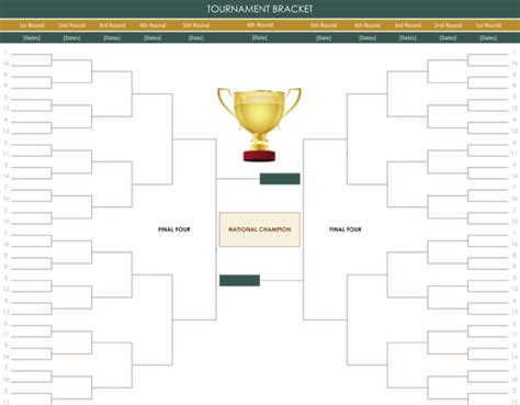 top result beautiful double elimination tournament bracket template