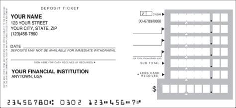 printable deposit tickets printable deposit slips blank sle bank teaching autos