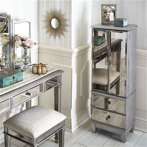 hayworth mirrored bedroom furniture collection hayworth mirrored silver jewelry armoire pier 1 imports