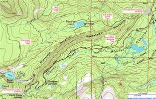 topographic map of the bierstadt lake trail rocky