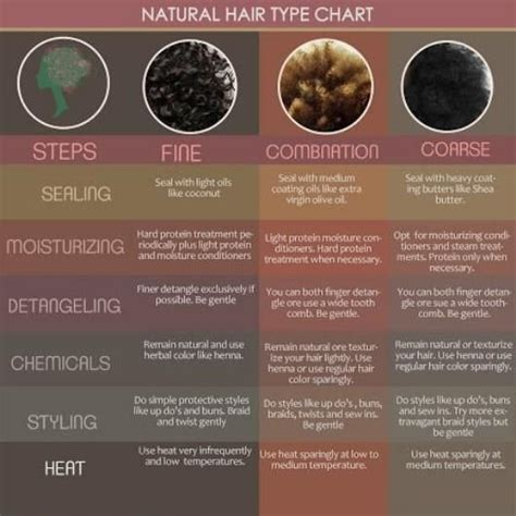 Normal Hair Type by Hair Type Chart Hair