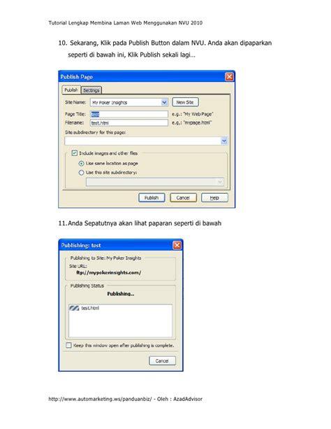 Tutorial Lengkap Delphi 2010 | tutorial lengkap membina lawan web menggunakan nvu