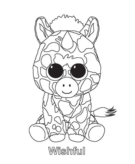 beanie boo coloring pages ty beanie boo coloring pages and print for free