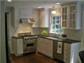 Small Kitchen With White Cabinets Transitional Kitchen