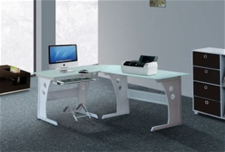 White Glass Corner Desk Corner Computer Table Buy White Frosted Glass Corner Computer Table