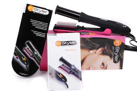 Instyler The Rotating Iron Catok Penggulung Rambut 2 model instyler catok rambut 2 in 1 hair rotating