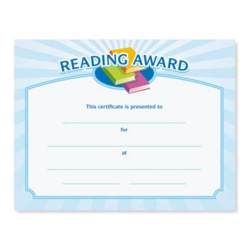 reading certificate template | planner template free