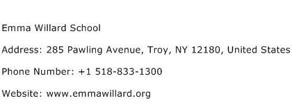willard school address contact number of