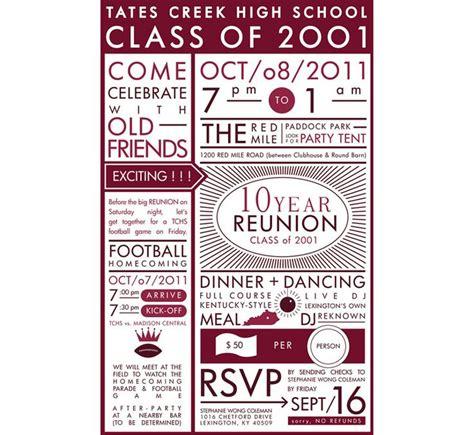 high school reunion invitation reunion ideas pinterest
