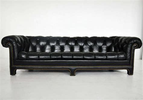 black leather chesterfield sofa at 1stdibs