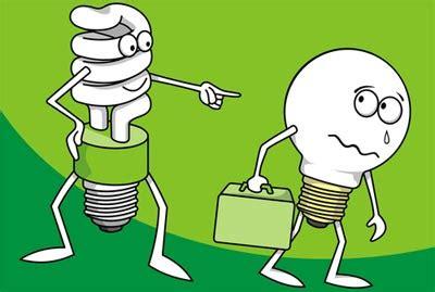 incandescent vs compact fluorescent light bulbs (cfl