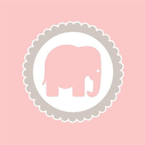 Pink Elephant Baby Shower Free Printables