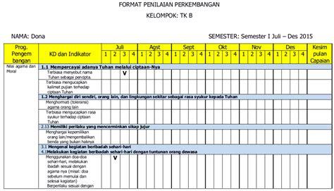 format penilaian kurikulum 2013 paud jateng kurikulum dan pembelajaran paud contoh