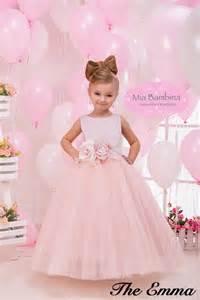 blush colored flower dresses blush flower dress tulle flower by
