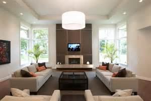 brown and white living room feature walls estilo interior design