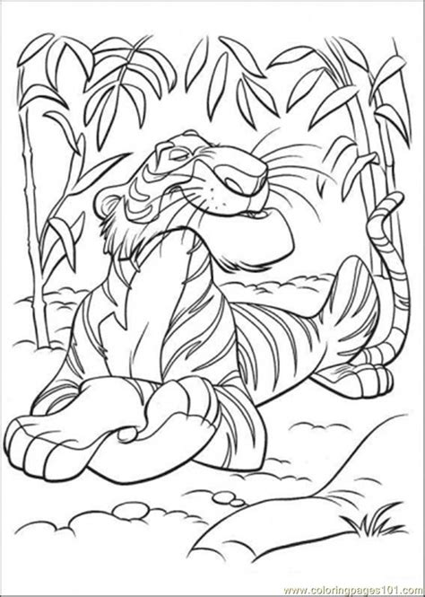 jungle book coloring pages coloring pages shere khan gt the jungle book