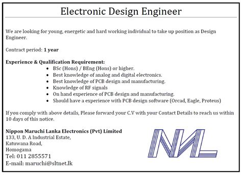 design engineer recruitment agency electronic design engineer job vacancy in sri lanka