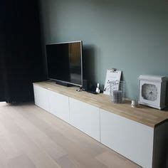 besta mit holzplatte ikea hack kitchen cabinets set on the floor added a top