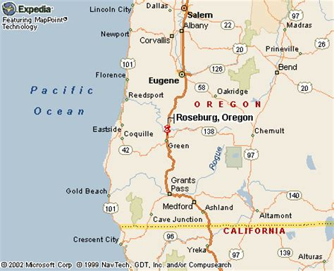 roseburg oregon map roseburg or