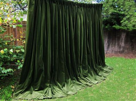 moss colored curtains beautiful moss green goblet pleat genuine vintage velvet