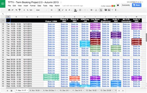 Calendar Script Spreadsheet The Apps Script And Spreadsheet Room Booking System