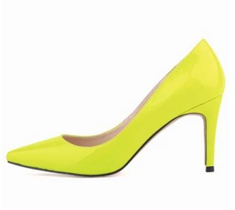 cheap yellow high heels get cheap neon yellow shoes aliexpress