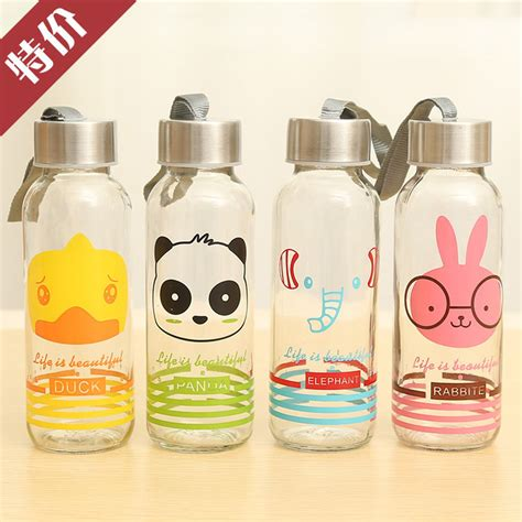 botol tumbler water 300ml creative portable sports glass water bottles 300ml botol