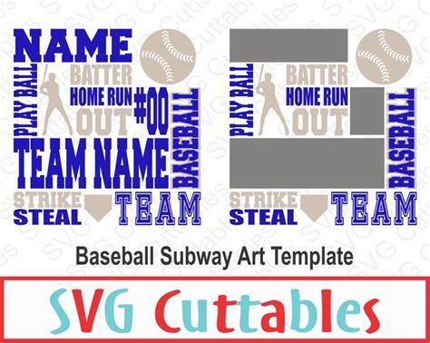 diy subway template baseball subway svg dxf baseball svg digital cut