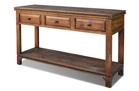 rustic console or sofa table pine wood console or sofa table