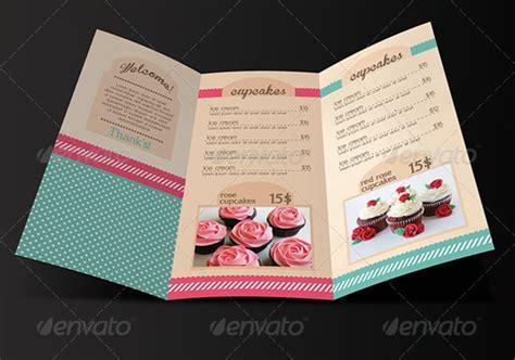 cupcake menu card template 27 bakery menu templates free sle exle format