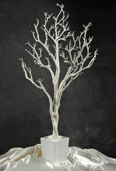 white tree centerpieces white potted wedding tree 4 foot
