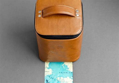 Handmade Toiletries - the handmade leather toiletry bag holds your hygiene kit