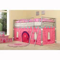 Tent For Bunk Bed Childrens Princess Metal Mid Sleeper Cabin Bunk Bed Tent Single Pink Ebay