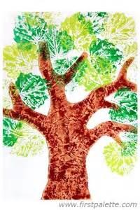 Halloween Crafts Preschoolers - leaf prints tree craft kids crafts firstpalette com