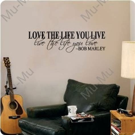 bob marley home decor bob marley quote wall decal decor love life words large
