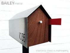 Pembersih Stainless Bailey Stainless Steel 236 mid century modern mailbox contemporary exterior with mid century modern mailbox and