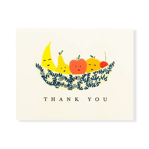 fruit you fruit thank you card and roses