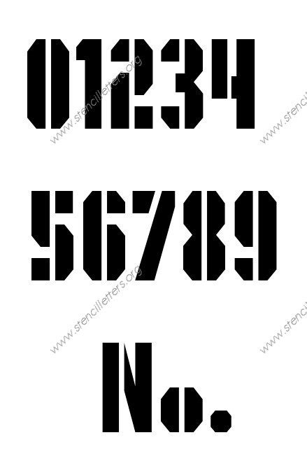 printable army number stencils number stencils number stencil 0 to 9 6 sizes stencils in