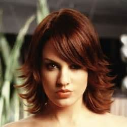 medium length flipped up hairstyles layered flipped hairstyles the flipped out layered bob
