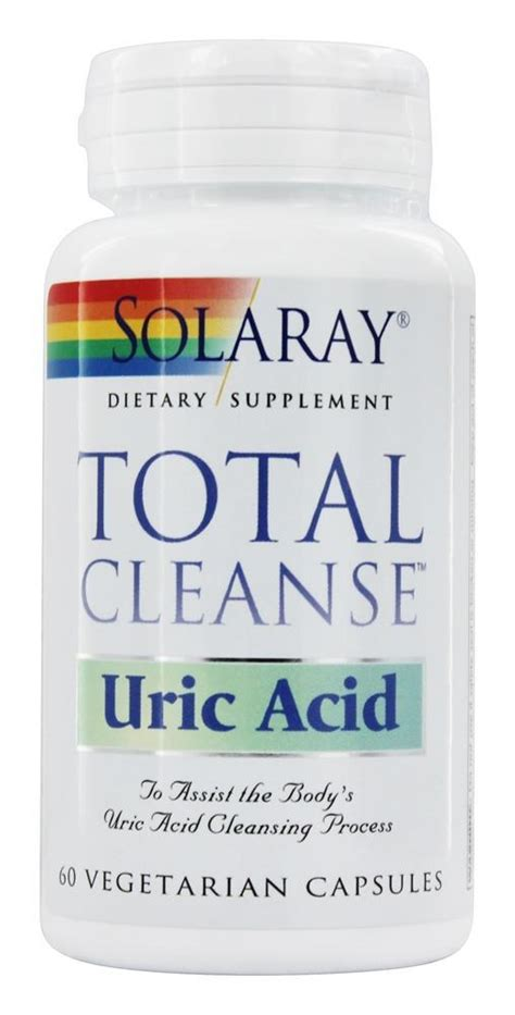 How To Detox Acid From by Buy Solaray Total Cleanse Uric Acid 60 Vegetarian