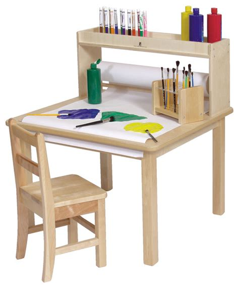 kids art table steffywood kids craft creativity desk wooden art table