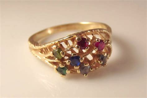 45 estate 14k multi gemstone ring jewelry from