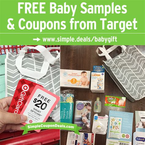 Target Baby Registry 20 Gift Card - hot free 20 target gift card baby gift bag 60 value simple coupon deals
