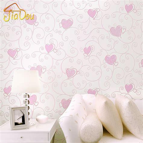 pink wallpaper roll 3d pink love heart cartoon cartoon princess girl