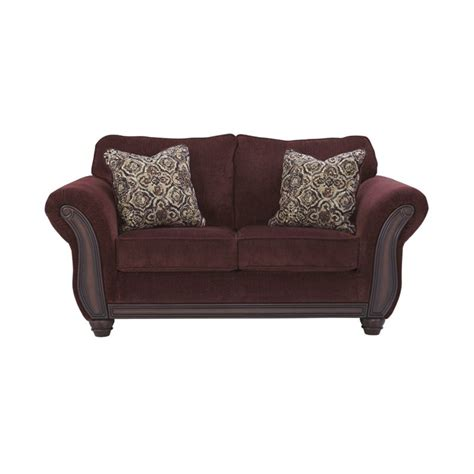 chesterbrook burgundy sofa and loveseat chesterbrook loveseat in burgundy 8810235