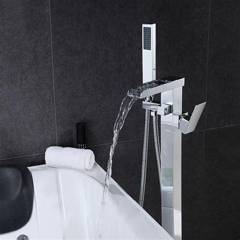 1 handle waterfall freestanding tub filler faucet