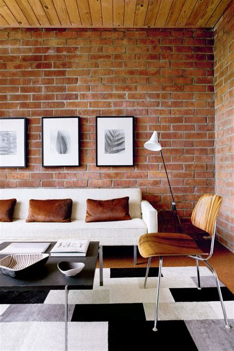 cool living room 59 cool living rooms with brick walls digsdigs