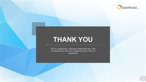 thank you themes for ppt low poly business template