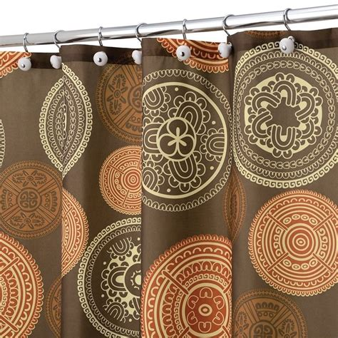 burnt orange shower curtains brown and burnt orange shower curtain shower curtain