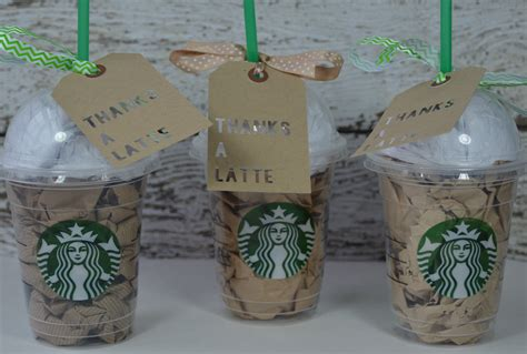 Ideas To Put Gift Cards In - remember the good times teacher gift idea thanks a latte starbucks cup and gift card
